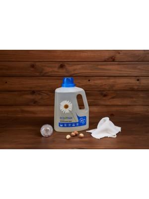 ECO-MAX: Laundry Liquid Natural FRAGRANCE FREE (Jabón para la ropa sin enzimas SIN AROMA) 3L/ 100 LAVADOS