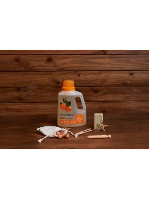 ECO-MAX: Laundry Liquid Natural ORANGE (Jabón para la ropa sin enzimas NARANJA) 1.5L/ 50 LAVADOS