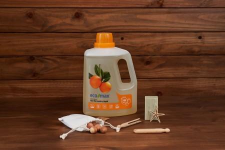 ECO-MAX: Laundry Liquid Natural ORANGE (Jabón para la ropa sin enzimas NARANJA) 3L/ 100 LAVADOS