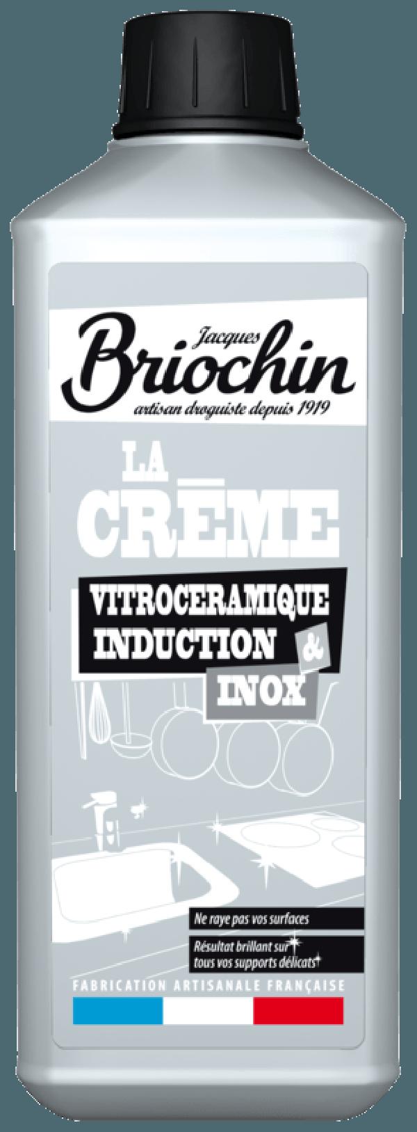 JACQUES BRIOCHIN: CRÈME VITROCÉRAMIQUE INDUCTION ET INOX (Limpiador en crema para placas vitrocerámicas, de inducción y acero inoxidable)