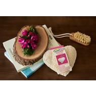LOOFCO: Esponja vegetal de luffa para cuerpo corazón