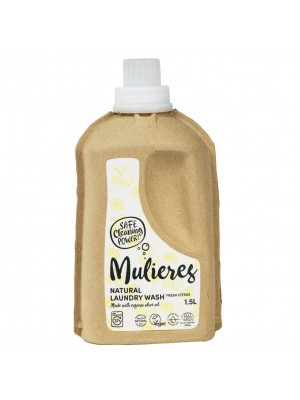 MULIERES: Natural concentrated laundry wash Fresh Citrus 1,5 L (Jabón natural concentrado para la ropa Cítricos frescos 1.5L/ 37 lavados)