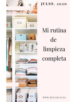 Planificador para las tareas del hogar. JULIO