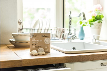 MULIERES: ECO DISHWASHER TABLETS ALL IN 1 (Lavavajillas en pastilla- todo en 1/ 25 pastillas)