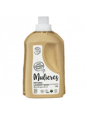 MULIERES: Natural concentrated laundry wash Pure Unscented 1,5 L (Jabón natural concentrado para la ropa Sin Aroma 1.5L/ 37 lavados)