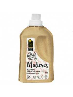 MULIERES: Natural concentrated laundry wash Rose Garden 1,5 L (Jabón natural concentrado para la ropa Jardín de rosas 1.5L/ 37 lavados)