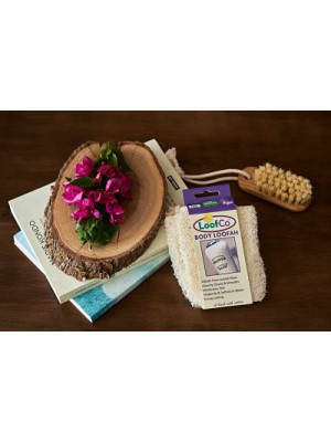 Esponja vegetal de luffa cuerpo